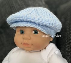 Free Crochet Boys Baby Hat Pattern – Peaky Blinders Style Crochet Baby Hat Newsboy Peaky Blinders Style Crochet Cap Pattern for a Baby Boy months Baby Newsboy FREE Crochet Pattern with Brim: … Crochet Newsboy Hat, Crochet Baby Boy Hat, Crochet Hats For Boys, Baby Boy Hats, Baby Boys, Booties Crochet, Crocheted Baby Hats, Crochet Baby Clothes Boy, Baby Boy Baseball