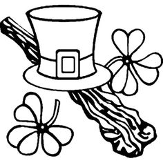 St Patrick& Day Coloring Page New A Leprechauns Hat St Patricks Day Coloring Page Leprechaun Hats, Online Coloring Pages, Creeper Minecraft, Applique Templates, Free Coloring, St Patricks Day, Saints, Quilting, Sketch