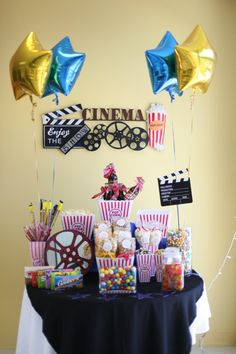 Cinema Themed Bar, popcorn, candy, sodas and more