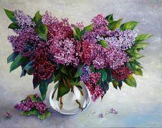 images of yurkin lilac flower art painting hd wallpaper 639213 Wallpaper