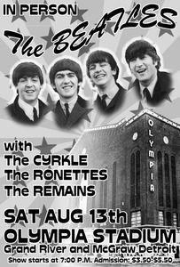 The BEATLES 1965 Atlanta Georgia Concert Poster 800 O 100 Mint