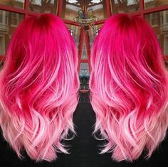 Lace Frontal Wigs Pink Hair Blonde And Pastel Hair For Women – wigbaba Rose Blond, Dark Pink Hair, Pink Ombre Hair, Hot Pink Hair, Hair Color Pink, Cool Hair Color, Bright Pink Hair, Pastel Pink, Hot Hair Colors
