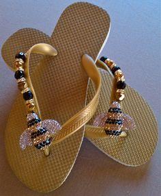 Bling Bee flip flops