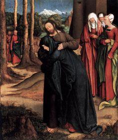 nascent-1:  Christ Taking Leave of His Mother by Bernhard Strigel, 1520
