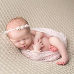 Product Image for Tiny Blessings Boutique Mohair Wrap and Headband Set in Pink 1 out of 2