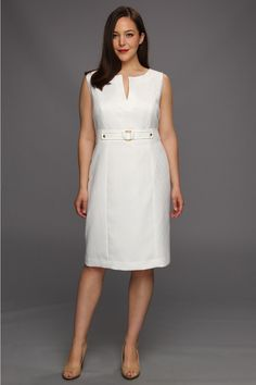 Tahari by ASL Plus Plus Size Ava Dress- I love this style, it is so classy and timeless Curvy Girl Fashion, White Fashion, European Fashion, Plus Size Fashion, Lovely Dresses, Trendy Dresses, Fashion Dresses, Plus Size Business Attire, Lace Gown Styles