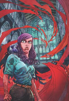 Veil #3 (of 5)  Greg Rucka(W) and Toni Fejzula(A/Cover)  On sale May 7 FC, 32 pages $3.50 Miniseries  When Veil's only ally is ripped away from her, she's left at the mercy of a mysterious and powerful enemy. Could this stranger know who Veil is? Why is he pursuing her? The truth is more terrifying than you can imagine.