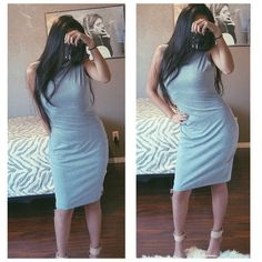 New gray cowl high neck turtleneck midi sexy dress New, no trades  not Nastygal  Nasty Gal Dresses Midi