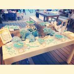 A candy bar that we've done for a beach wedding recently! Need a candy bar for your event? Customized decorations, cupcakes designed to your theme and imported candies!! Email us at events@lovemelody.com.sg for quotation! =))