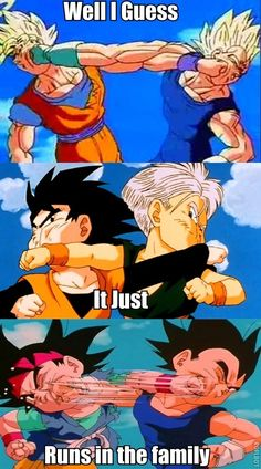 It just runs in family... #dragonballz #dragonball #dbz - Visit now for 3D Dragon Ball Z shirts now on sale!