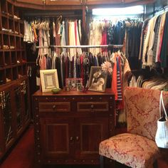 Master closet - I just rearranged it. So much better!