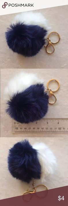 Large Pom Keychain Use this pom pom keychain by Bead Landing to accentuate your accessories or craft projects. You can team it with chunky beads to create personalized keychains or party favors.   This pom pom keychain is also great for making colorful handbag charms or identifying your important keys. Jazz up for backpack or luggage!   Lobster clasp and keychain Accessories