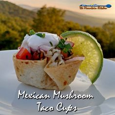 Mexican Mushroom Taco Cups | TheMountainKitchen.com #MeatlessMonday
