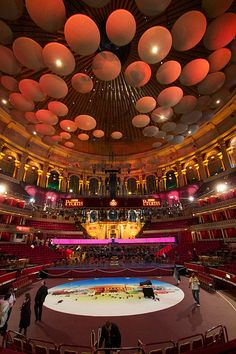 """The interior acoustic """"flying saucers"""" at the Royal Albert Hall, London"""
