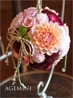 和装用ボールブーケ。 の画像|ウェディングブーケデザイナーの日記 Faux Flowers, Love Flowers, Fabric Flowers, Paper Flowers, Flower Ball, Flower Crown, Wedding Bouquets, Wedding Flowers, Japanese Wedding