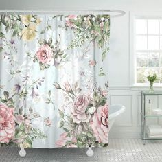 KSADK Colorful Flower Watercolor Bouquet F Pink Floral Rose Vintage Abstract Beauty Bathroom Shower Curtain inch Rosa Shabby Chic, Shabby Chic Mode, Shabby Chic Farmhouse, Shabby Chic Cottage, Vintage Shabby Chic, Shabby Chic Style, Shabby Chic Colors, Shabby Chic Porch, Shabby Chic Interiors
