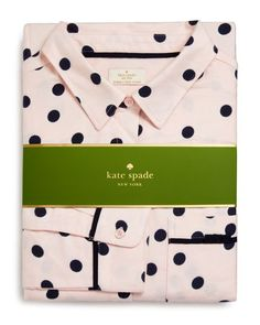 kate spade new york Flannel Pj Set | Cotton/rayon | Machine wash | Imported | Top: spread collar, button front closure, front patch pocket, long sleeves, contrast piping | Pants: elasticized drawstrin