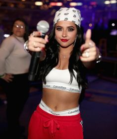 Becky G at 2018 Calibash in Los Angeles Becky G Outfits, Cute Swag Outfits, Girl Outfits, Fashion Outfits, Becky G Hair, Look Hip Hop, Becky G Style, Chola Girl, Chola Style