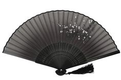 DawningView Japanese Folding Fan, with East Asian Ink Paintings/Suibokuga/Sumi-e (Eagles) Japanese Home Decor, Japanese House, Hand Held Fan, Hand Fan, Japanese Restaurant Design, Hanging Ornaments, Black House, Home Accessories, Plum