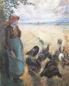 Turkey Girl - Camille Pissarro