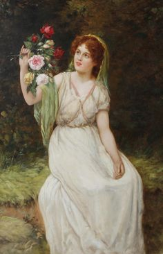 William Oliver (active 1865-1897) - Summer beauty