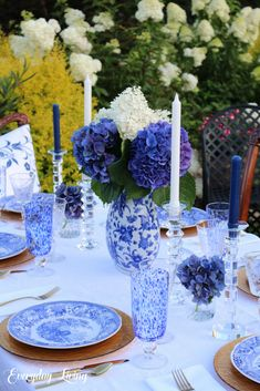 Blue & White On A Summer Night