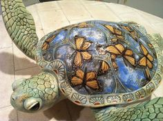 This ceramic turtle is fricken awesome. Just sayin:)