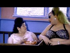 "Divine and Edith Massey in the ""Egg Paranoia"" scene from John Waters' Pink Flamingos, 1972 #EdithMassey #Divine #JohnWaters #PinkFlamingos #EggLady #BabsJohnson"