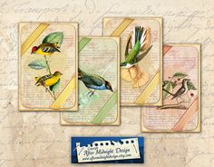 Tags 81 Digital Collage Sheet Download  by aftermidnightdesign