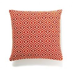 Bangalore  Red orange geometric global home décor designer pillow by Frog Hill Designs. Use coupon code: