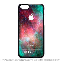 Green Red Galaxy Nebula Print Cover iPhone 4 4s 5 5s 5c 6 6 plus Case #UnbrandedGeneric