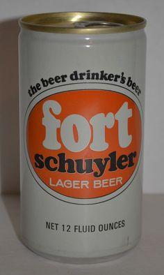Vintage Beer Can Fort Schuyler Lager Pull Tab 12 Fluid Ounces Utica, N.Y.