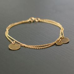 bellissima - gold and brass coin bracelet by elephantine
