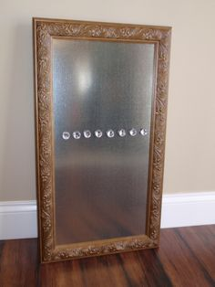 framed magnetic bulletin board dry erase marker board in distressed bronze scroll carved wood frame and eight jewel magnets