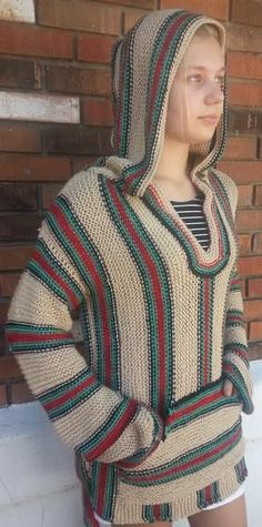 Retro Hippie Hoodie - Knitting Patterns and Crochet Patterns from KnitPicks.com