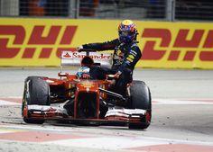 Fernando Alonso And Mark Webber at Singapore GP | #Formula1 | Gear X Head