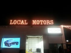 LOCAL MOTORS CORPORATE EVENT MARQUEE LETTERS