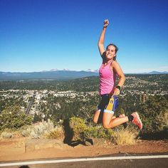 This morning we ran up to the top of Pilot Butte!! Yippee! #running #trailrunning #pilotbutte #inbend #triathlon #phishtour by whitneyellen_