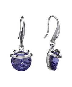 Another great find on #zulily! Tanzanite Swarovski® Crystal Spring Drop Earrings #zulilyfinds