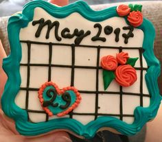 Cookies to announce a baby