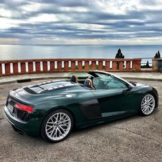 Audi R8 V10 Spyder #testdrive at #lloretdemar #audi #audir8 #r8 #r8spyder #auto #cars #carsofinstagram #dreamcar #sportscar @audi @audi_de @audi.r8