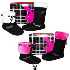 Amazon.com: Womens Faux Fur Mid Calf Pull On Playboy Bunny Boots Fuchsia , 5-10: Shoes