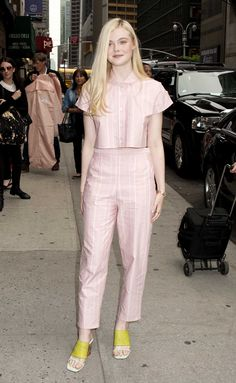 Elle Fanning's Princess Style Diaries - Elle Fanning at The Late Show