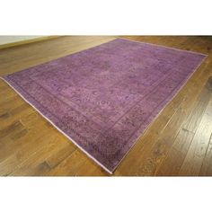 Manhattan One of a Kind Overdyed Hand-knotted H8864 Area Rug