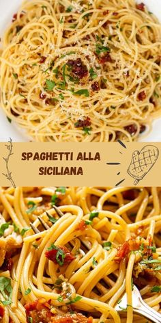 Shrimp Recipes Easy, Easy Dinner Recipes, Sauce Recipes, Cooking Recipes, Spaghetti Recipes, Italian Dishes, Pasta Dishes, Food Videos, Dried Tomatoes