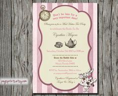 Mad Hatter Bridal Shower Invitation - Vintage (Printable) on Etsy, $14.00