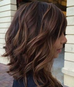 Inverted Long Brown Bob