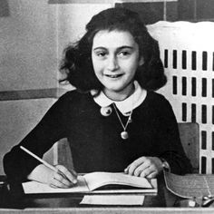 """""""He who has courage and faith will never perish in misery.""""-- Anne Frank -- This Jewish girl is the author of """"Anne Frank's Diary"""", one of the world's most widely read books, and also the victim of the Holocaust. Anne Frank, Keeping A Diary, Todays Reading, Anna, Portraits, The Girl Who, Girl Names, Change The World, Wwii"""