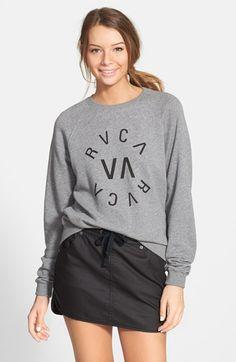 Junior Women's RVCA 'Circular' Graphic Sweatshirt