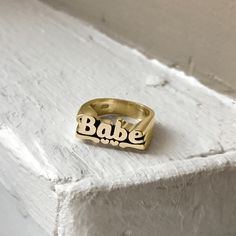 Babe Stackable Name Ring
